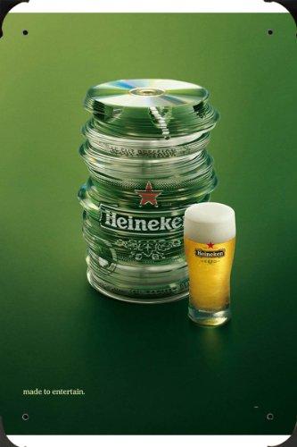 Tin Sign of Heineken Draught Keg: CDs Metal Poster Plate 8