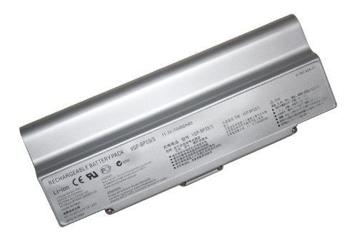 ATC 12 cell Replacement Battery for Sony PCG-5J1L, PCG-5J2L,PCG-5K1L, PCG-5K2L,PCG-5G1L, PCG-5G2L, PCG-5G3L PCG-6S1L,PCG-6S2L,PCG-6W1L,PCG-6W2L,PCG-6W3L,PCG-7131L,PCG-7132L, PCG-7133L,PCG-7111L,PCG-7112L,PCG-7113L,PCG-7Z1L,PCG-7Z2L,PCG-8Z1L, PCG-8Z2L/VGP-BPS9,VGP-BPS9A,VGP-BPS9/B,VGP-BPS9/S 10400mah Silver Not Compatible For Windows 7