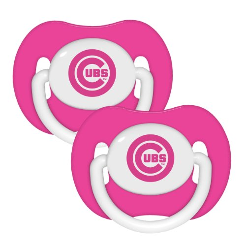 Mlb Chicago Cubs Pacifiers (Pack Of 2), Pink front-423814