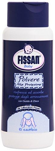 Fissan - Polvere Alta Protezione, Rinfresca ed Assorbe, Protegge Dagli Arrossamenti, Con Ossido di Zinco - 100 g