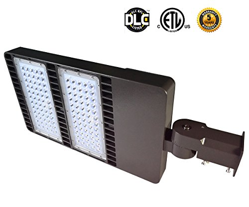 LED Flying Direct 300w LED Street Light,Road Lamp,Parking Lots Pole LED Outdoor Site and Area Light,Shoe Box Light,30000L,5000k,DLC ETL(Brown)