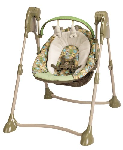 Graco Swing By Me 2-In-1 Portable Swing, Zooland