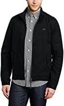 Pretty Green Kingsway Harrington - Blouson - Manches longues - Homme - Noir (Black) - Small (Taille fabricant: Small)