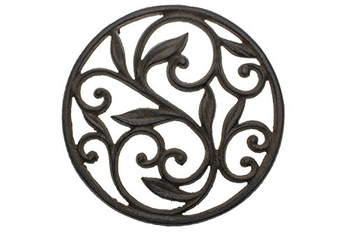 Why Choose Cast Iron Trivet | Round with Vintage Pattern | Decorative Cast Iron Trivet For Kitchen O...