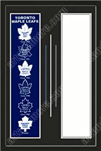Toronto Maple Leafs & Your Choice of other Team Heritage Banner Framed-House... by Art and More, Davenport, IA