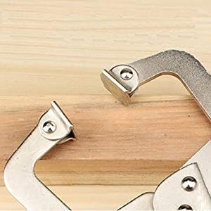 MASSCA Locking C-Clamp   Portable Table & Tool Vise Grip   Heavy Duty C-Clamps with Swivel Pads   Made from Strong High-Grade Carbon Steel for Home &