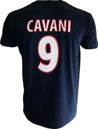 T-shirt PSG - Edinson CAVANI - N°9 - Collection officielle PARIS SAINT GERMAIN - Football club Ligue 1 - Taille adulte homme S