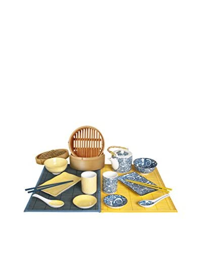 Enjoy Home Kit Sushi 16 Piezas Sapori D'Oriente Amarillo/Azul