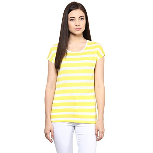Honey-by-Pantaloons-Womens-Striped-Casual-T-Shirt
