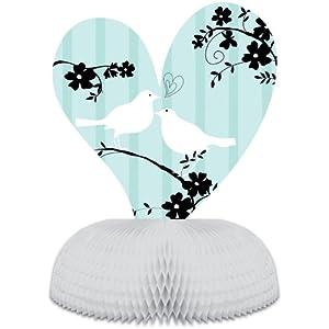 Two Love Birds Bridal Shower Honeycomb Centerpiece