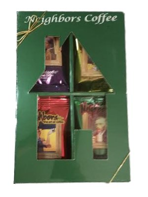 Gourmet Coffee Assortment in Gift Box 8 Flavors - Ground