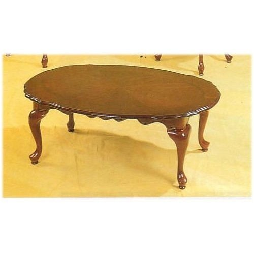 Buy Low Price Queen Anne Style Cherry Finish Wood Coffee Table 2 End Tables Set Vf F3062