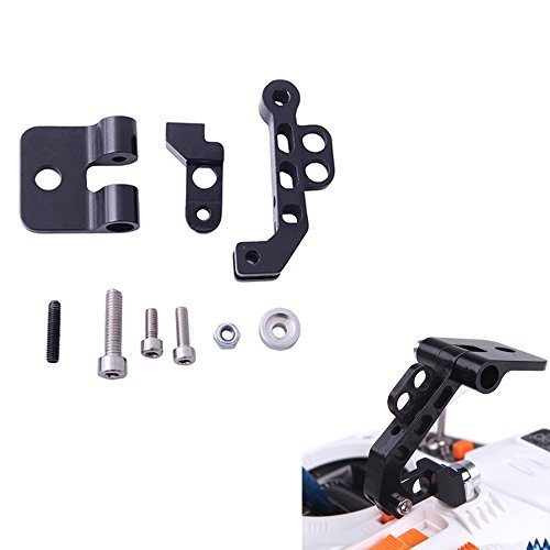 TOMTOP CNC Aluminum Alloy FPV Monitor Mount Bracket Holder for Walkera JR Crosswise Transmitters Black - 1