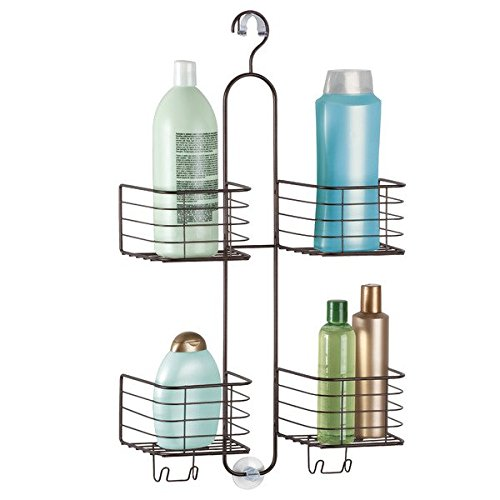 mDesign Bathroom Shower Caddy for Handheld Shower Head - Large, Bronze (Shower Head Caddy Bronze compare prices)