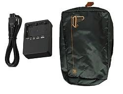LC-E6E Battery Charger Fo Canon LP-E6 EOS 7D 60D 6D 70D 5D2 5D3 5D + FREE BAG