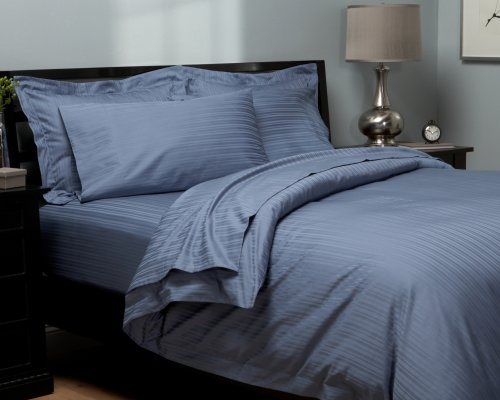 Pinzon 440-Thread Damask Stripe Duvet Set