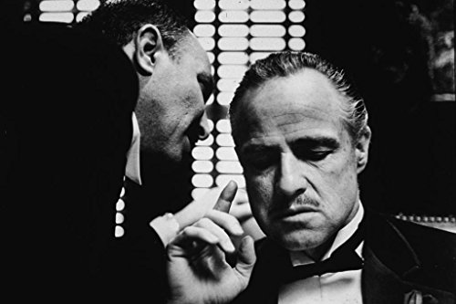 Espritte Art-Large Canvas Giclee Print Painting Movie The Godfather Poster Marlon Brando Picture without Framed, Modern Home Decorations Wall Art, 24*36inches #05HTK(442)