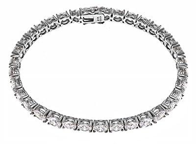 Myia Passiello Essentials Swarovski Zirconia 5mm Round Tennis Bracelet of 7.25cm