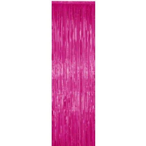Metallic Fringe Curtain Magenta