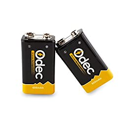 Odec 9V 600mAh Li-ion Rechargeable Batteries, High Performance Lithium-ion Batteries, Pack of 4 from Odec