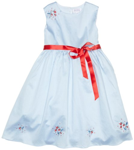 Rachel Riley Strawberry Embroidered Party Girl's Dress