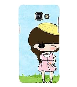 EPICCASE Pink dress Girl Mobile Back Case Cover For Samsung Galaxy A7 (Designer Case)