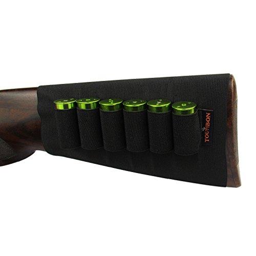 Tourbon Fucile Elastico Munizioni Manica Buttstock 12 Gauge Holder Shotshell