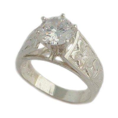 hawaiian wedding rings on ct french mount hawaiian jewelry sterling silver wedding ring - Hawaiian Wedding Rings