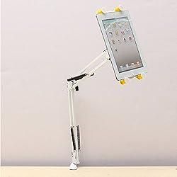 Folding Bed Desk Mount Holder Stand 360 Rotating For Tablet