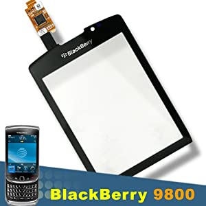 NEW BLACKBERRY TORCH 9800 DIGITIZER SCREEN GLASS REPLACEMENT BLACK LENS TAPE