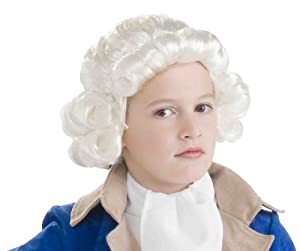 Forum Novelties Colonial Boy Child Wig, White