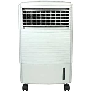 Portable Spot Air Conditioner with Dehumidifier. SC7 Features: -Portable spot air conditioner. -Combination of black and white colors. -Two speed settings.
