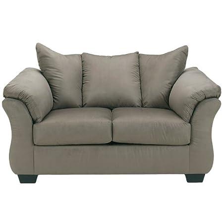 Flash Furniture Darcy Loveseat, Cobblestone Fabric