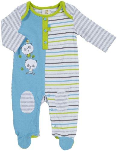 Absorba Baby-Boys Newborn Tender Touch Footie, Blue/Stripe, 3-6 Months front-816327