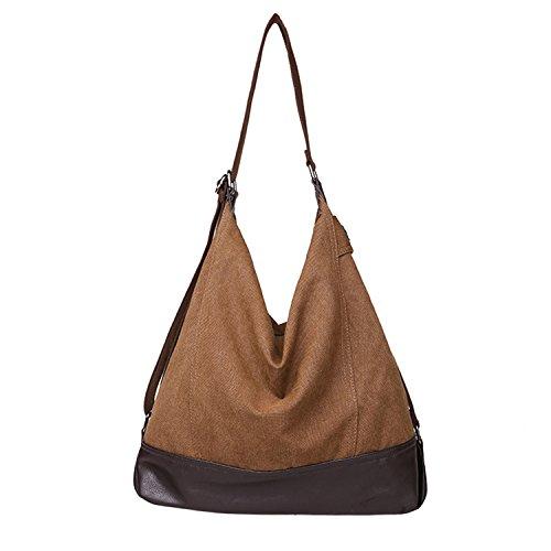 TECOOL Borsa a tracolla da donna Vintage borsetta a spalla