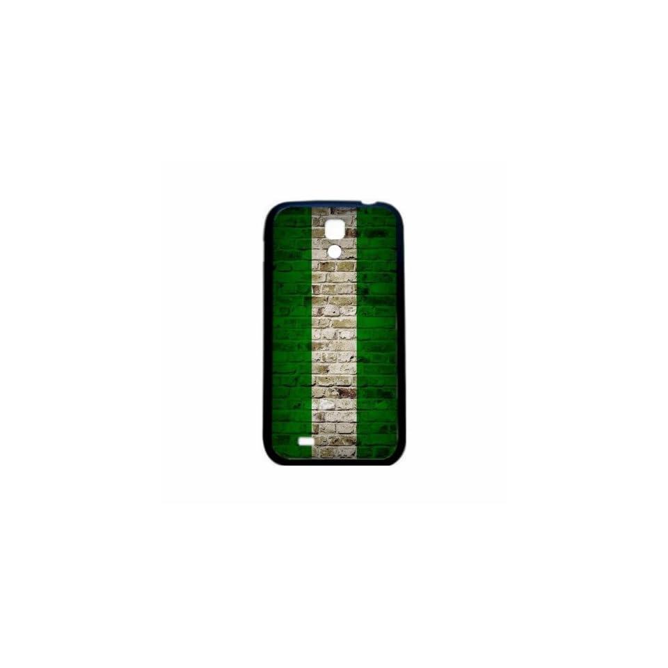 Nigeria Brick Wall Flag Samsung Galaxy S4 Black Silcone Case   Provides Great Protection