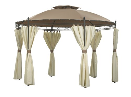 Camelot Two Tone Mocha Regency Round Gazebo