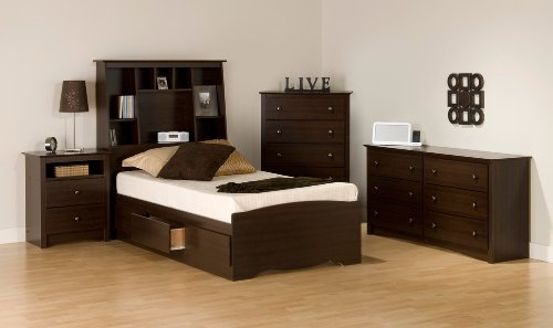 Cheap Kids Bedroom Furniture Set 2 in Espresso – Fremont – Prepac Furniture – FRE-KBSET-2 (FRE-KBSET-2)