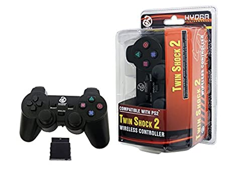 Hydra Performance® Wireless Controller 2.4G Black Compatible with Sony Playstation 2 PS2