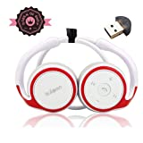 Ax610 White + Red Lightweight Wireless Sports/running & Gym/exercise Bluetooth Earbuds Headphones Headsets W/microphone for Iphone 5s 5c 4s 4 Ipad 2 3 4 New Ipad Ipod Android Samsung Galaxy Smart Phones Bluetooth Devices-in