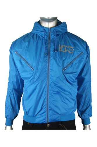Mens Location Goggle Bomber Rain Hooded Jacket Coat S