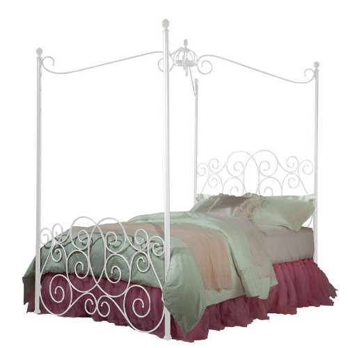 standard furniture princess canopy bed in white metal twin cheap