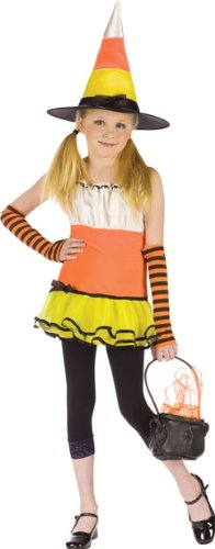 Preteen Candy Corn Witch Halloween Costume (Large)