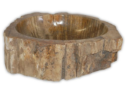 Eden Bath S028PW-P Natural Stone Sink - Petrified Wood