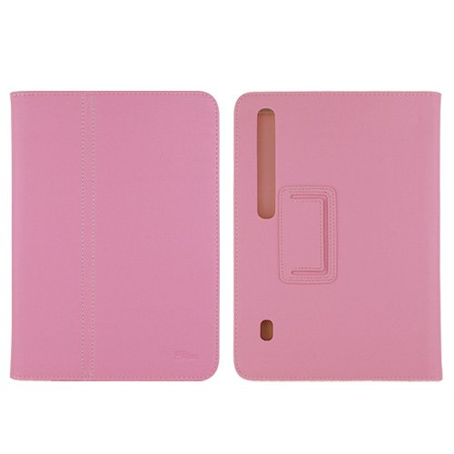 GTMax Durable PU Texture Leather Protector Cover Case with Stand - Pink for Motorola Xoom Android Tablet