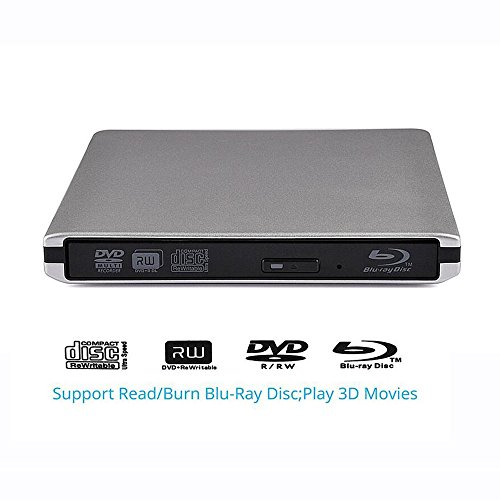 3d Lettore Blu-ray Disc, esterna USB 3.0 per BD esterno RW CD-RW DVD-RW-Unità Reader & Burner Combo dispositivo ODD esterna per windows 98/SE/ME/2000/XP/Vista/Win 7/Win 8/Win 10/Mac OS Laptop Notebook PC Computer Desktop - [versione migliorata]