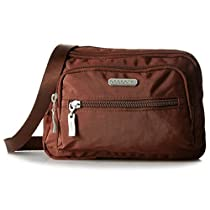 Baggallini Multi Pocket Crossbody/Waist Bag for Women - Highly Functional, Durable Design for Travel, Sightseeing, or Shopping - Great Utility Purse - Optimal Organizational and Accessibility (Java)