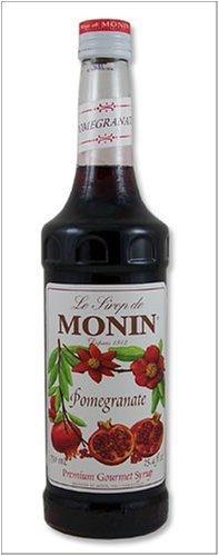 Monin Pomegranate Flavoring Syrup 750 Milliliter