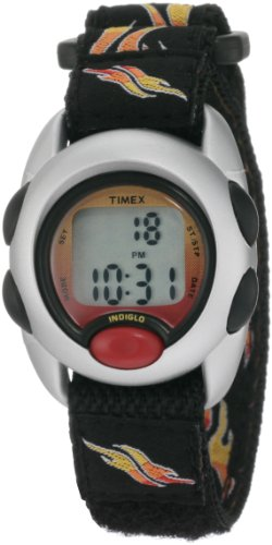 """Timex Kids' T78751 """"Digital Flames"""" Watch With Black Cloth Band front-423712"""