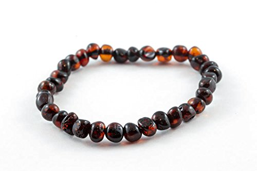 Healing Hazel 100% Balticamber Adult Bracelet, Cherry Polished, 7.5""